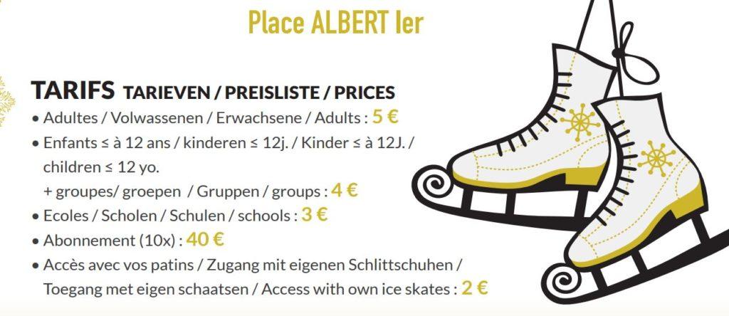 Les tarifs de la patinoire de Malmedy